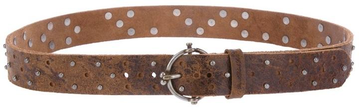Diesel Black Gold studded leather belt