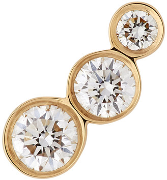 Sophie Bille Brahe Gold VVS Diamond Croissant Trois Earring