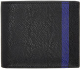 Valextra Black & Blue Stripe 6CC Bifold Wallet