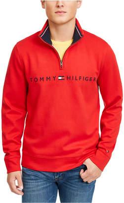 Tommy Hilfiger Men Logo French Rib Quarter-Zip Pullover