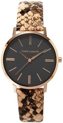 Vince Camuto Snake-print-band Watch