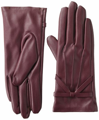 Mud Pie Women's Faux Leather Driving Gloves