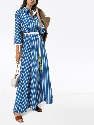 Evi Grintela Ben Youssef striped maxi shirt dress