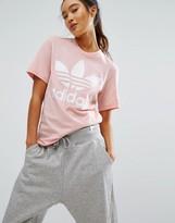 adidas Pink Trefoil Boyfriend T-Shirt
