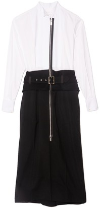 Sacai Suiting Dress in White/Black