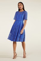 Yumi Lace Fit And Flare Dress With Trim Detai