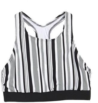 Next Limitless Stripe Sport Bikini Top