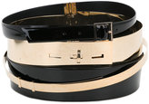 Alexandre Vauthier multi layer belt - women - Calf Leather - S