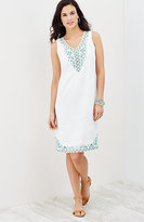 J. Jill Embroidered Linen Dress