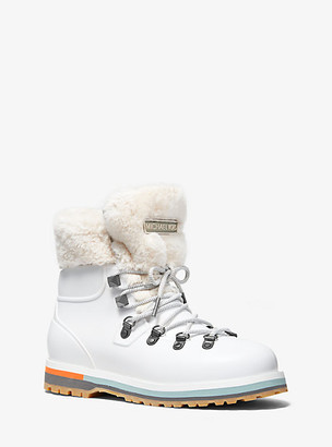 Michael Kors Lanis PVC and Faux Fur Rain Boot