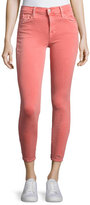 J Brand Jeans 835 Mid-Rise Capri Glowing Jeans, Coral