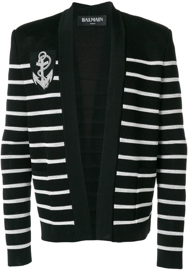Balmain striped cardigan