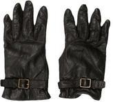 Chloé Leather Buckle-Embellished Gloves