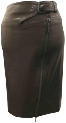 Plein Sud Jeans Black Leather Skirt for Women