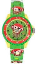 Trendy Kiddy Kiddy-KL233 Trendy Unisex Watch Analogue Quartz Green Plastic Strap Multicoloured Dial