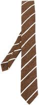 Eleventy woven stripe tie - men - Silk - One Size