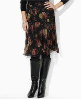 Lauren by Ralph Lauren Skirt, Floral Printed Ruffle Pleated