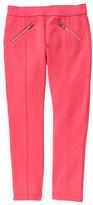 Pink Seam-Accent Pants - Girls