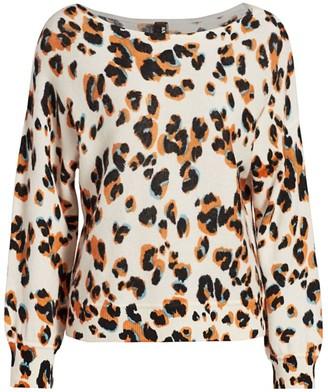 Naadam Leopard Print Cashmere Sweater