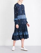 Preen Line Yasmina floral and polka dot-print crepe midi dress