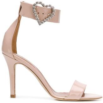 Paris Texas Heart Buckle Sandals