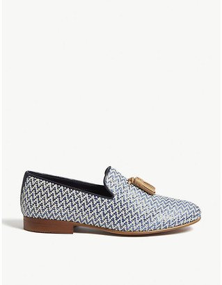 Aldo Cadila tassel-embellished woven loafers