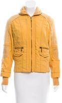 Marni Rib Knit Trim Lightweight Jacket