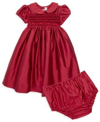 Isabel Garreton Baby Girl's Two-Piece Smocked Taffeta Dress & Bloomer Set
