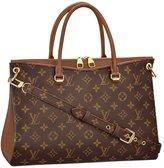 Louis Vuitton Canvas Pallas Noisette Handbag Article: M42755 Made in France