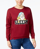 Freeze 24-7 Disney Juniors' Sleepy Patch Graphic Sweatshirt