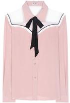 Miu Miu Silk pussy-bow blouse