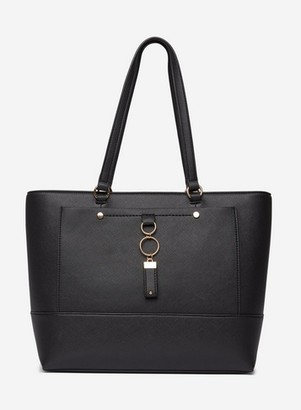 Dorothy Perkins Womens Black Pocket Front Shopper Bag, Black