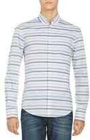 HUGO BOSS Slim-Fit Striped Cotton Sportshirt
