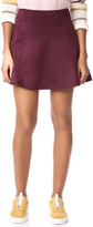 BB Dakota Jack by Hal Faux Suede Scuba Skirt