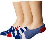 Converse Chucks Bars and Stars 3-Pair Pack Men's No Show Socks Shoes