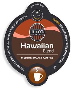 Keurig Vue(TM) Pack Tully's® Hawaiian Blend Coffee for Vue Brewers - 16 Count