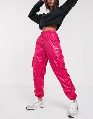 adidas tech utility pants in pink