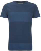 Universal Works Stripe Pocket Tshirt - Blue