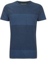Universal Works Men's Stripe Pocket TShirt - Blue