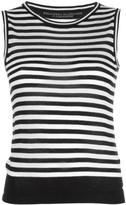 Ermanno Scervino striped tank top - women - Cashmere - 40