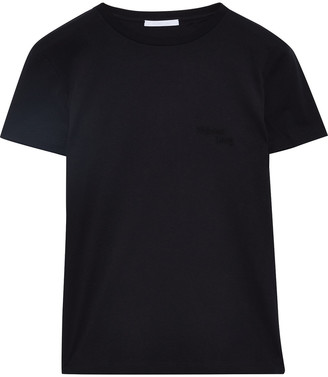Helmut Lang Embroidered Cotton-jersey T-shirt