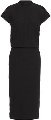 James Perse Slub Stretch-cotton Jersey Midi Dress