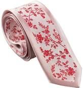 Coachella Ties Bordered Florals Shade Necktie Jacquard Woven Slim Tie