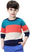 KID1234 Boys' Uniform Long Sleeve Striped Sweater Pullovers