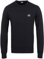 Cp Company Felpa Navy Crew Neck Jersey Sweatshirt