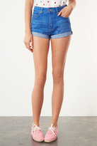 Topshop Moto high waisted denim shorts