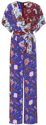 Diane von Furstenberg Floral-printed wrap jumpsuit