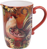 Certified International Sunflower Rooster Pitcher