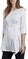 Isabella Oliver Selina Star Print Tie Maternity Top, White