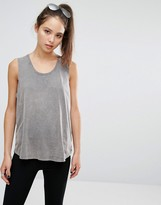 213 Apparel Washed Gray Tank